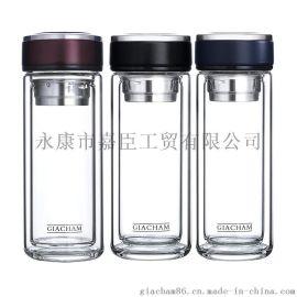 达康双层玻璃杯隔热防烫商务高硼硅水晶玻璃杯礼品杯定制logo