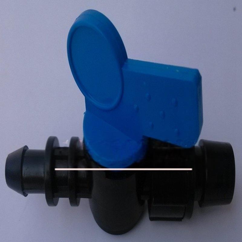 批發供應滴灌主管pe灌溉管16mm反鎖母旁通閥