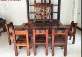 老船木茶几簡約實木大板茶桌椅组合仿古老船木
