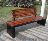 广州户外休闲长椅F-2001铸铝实木公园椅定做