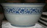 加工會所展廳大件陶瓷碗盤子大缸定做手工製作圖片