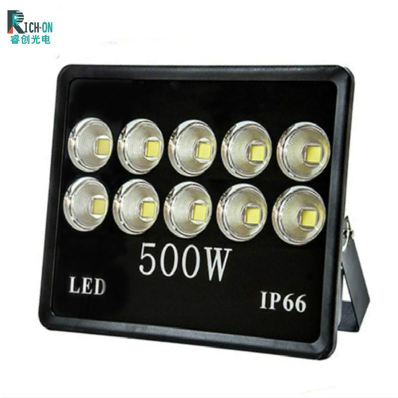 500W立體聚光黑色投光燈,球場,廣場,道路照射燈具