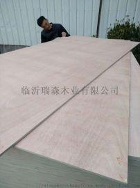 二次砂光桃花芯奥古曼面多层胶合板杨木多层板