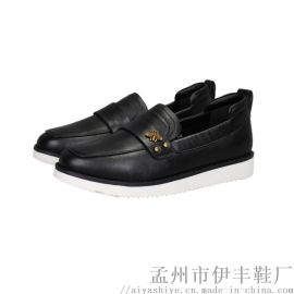 伊丰鞋业品牌春秋款牛皮软底女士皮鞋