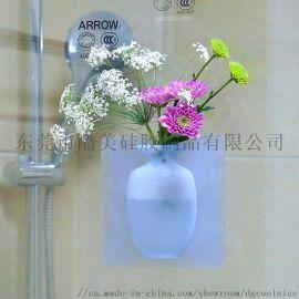 coolnice简约硅胶花瓶玻璃镜子冰箱水培花瓶