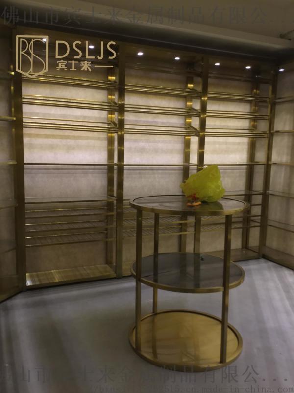 佛山304不锈钢红酒酒架/展示架 钛金电镀厂家定制