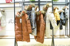 品牌折扣连衣裙走份帛可18年冬装新款羽绒服大衣