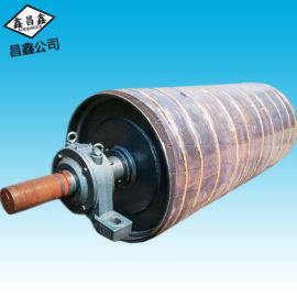 厂家直销 鑫昌鑫包胶滚筒 无动力碳钢滚筒