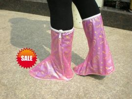 女式PVC高筒防雨鞋套(H-303)