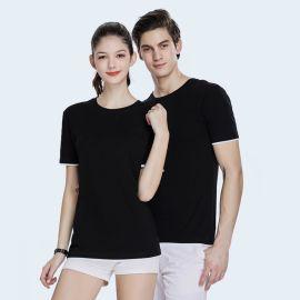 夏季新款撞色T恤衫女装圆领短袖体恤衫上衣简约休闲工作服工衣
