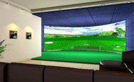 室内三屏3D模拟高尔夫厂家直销