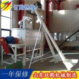 养殖场  畜禽饲料加工粉碎搅拌机 卧式小型饲料机组生产线 价格