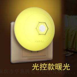 ABS小飞碟光控夜灯