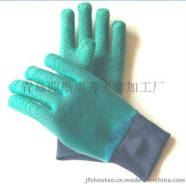 100%天然乳胶材质乳胶手套专利ZL200820026742.1技术制造结实耐用主要适用电焊 井下 隧道作业手套