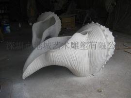 海洋类海螺、贝壳雕塑装饰品 深圳厂家批发玻璃钢工艺品