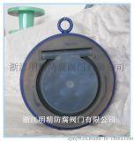 浙江明精厂家 衬氟阀门 H74衬氟单瓣旋启式对夹止回阀