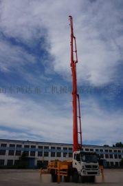 日本原装五十铃底盘鸿达混凝土臂架泵车