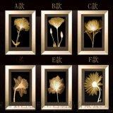 現代客廳三聯裝飾畫框  有框畫 酒店賓館金色年華掛畫