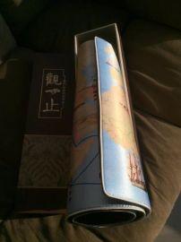 丝绸鼠标垫订做、清明上河图西安织锦鼠标垫子加长款礼盒装定做,可定制或加印LOGO送女友