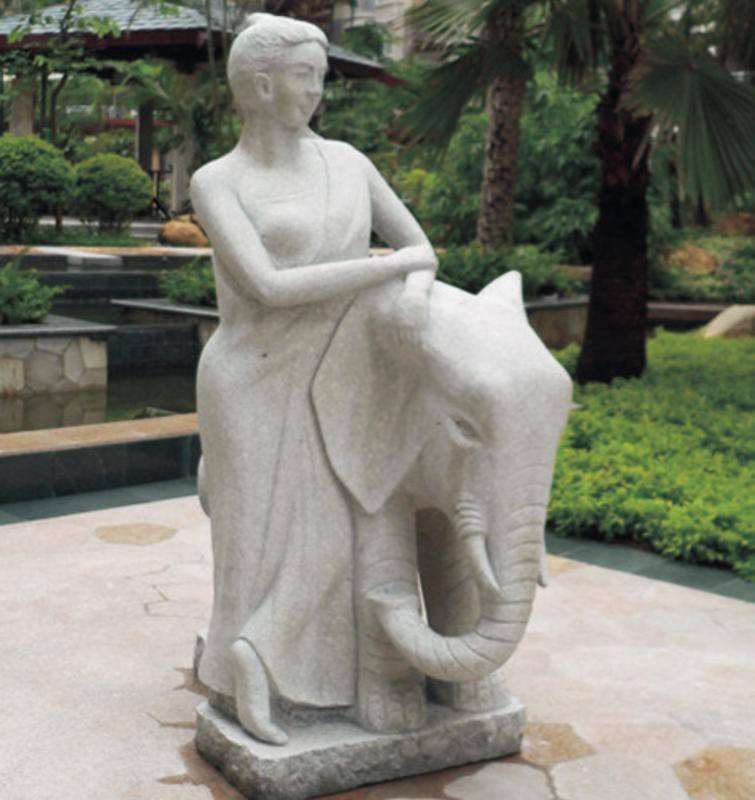 广场雕塑 欧式风格人物雕塑? 仿砂岩玻璃钢工艺品 园林雕塑