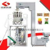 直销膨化食品包装机 420机型配10头组合电子秤 薯片虾条包装机