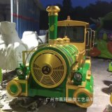 玻璃鋼火車雕塑花車 戶外雕塑遊樂兒童主題 玻璃鋼模擬車展模型