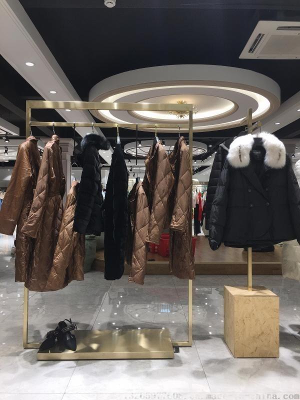 欧洲站羽绒服哈祥喜品牌折扣女装货源公司推荐