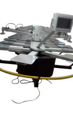 全自动印花机 双轮转印花机 精密套色成衣丝印机