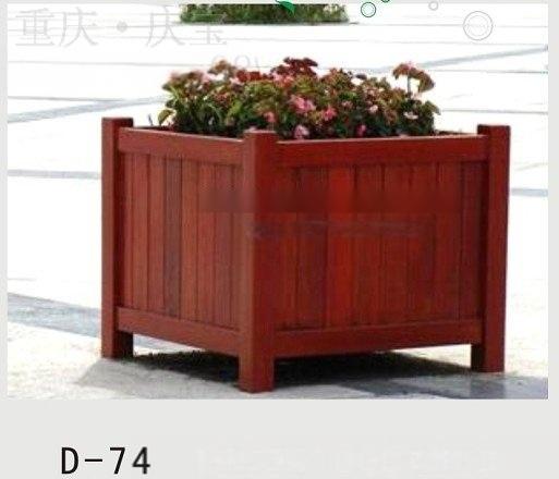 定制道路实木花箱,隔离花池价格尺寸