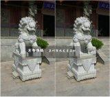 惠安石雕狮子 仿古石狮子雕刻 门口镇宅石狮子一对