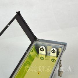 隧道三防支架T8双管钢化玻璃罩防水灯压铸铝三防外壳