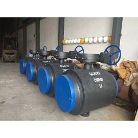 九特閥門Q367F大口徑全焊接球閥,固定球供暖管道