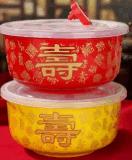 加工喜鵲登枝雙喜陶瓷碗壽慶陶瓷飯盒壽碗設計定做喜酒陶瓷酒瓶