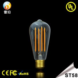 ST58LED球泡6W 爱迪生LED灯丝灯泡 家居装饰复古球泡 厂家直销