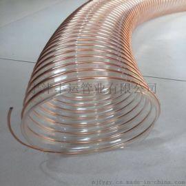 钢丝接地排静电钢丝管PU钢丝伸缩管弹性抗冻PU风管