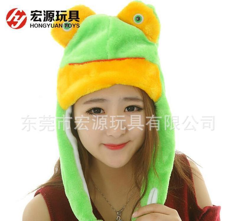 【来图打样】定制毛绒动物帽子,毛绒动物头帽子 EN71 环保