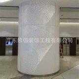 酒店大堂包柱鋁單板,包柱氟碳弧形鋁板