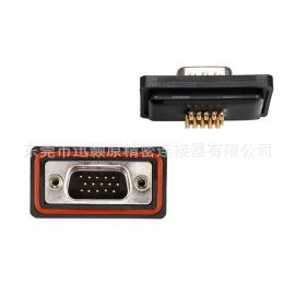 D-SUB 防水连接器 HDB15P公焊线,UL认证,线束类防水连接器