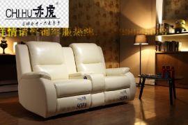 頭等艙單位真皮組合沙發 電動多功能真皮沙發 批發家庭影院沙發