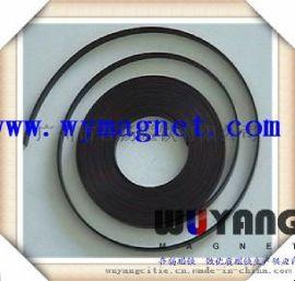生产软磁冰箱贴,橡胶背胶磁铁,同性异形单面多极充磁F3000*20*1mm