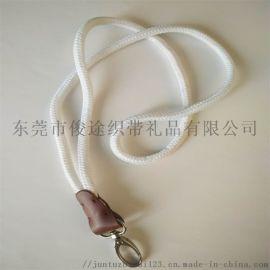 工牌绳定做厂家直销带金属锌扣的涤纶圆绳挂带