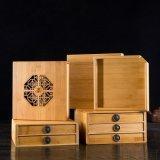 普洱茶餅竹質包裝木盒散茶葉通用包裝收納盒包裝盒