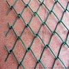 学校体育场围网 包塑铁丝网围网 菱形PVC勾花网
