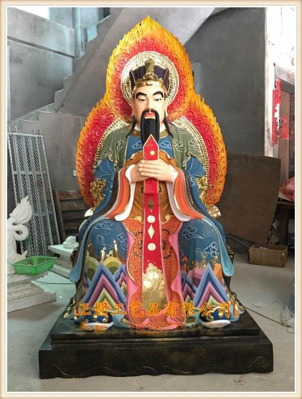 玻璃钢神像厂家 三官大帝神像定做,木雕三官大帝厂家