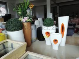 玻璃纤维花盆,玻璃钢雕塑艺术