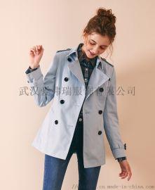 专柜品牌服装货源【现货】卡利亚里女士中款风衣