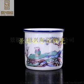 青花瓷陶瓷礼品杯子定制 年终送礼陶瓷茶杯