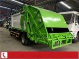 6方挂桶垃圾压缩车  8立方垃圾运输车厂家