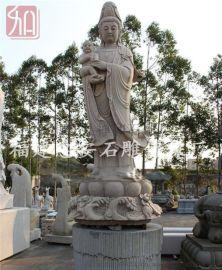汉白玉送子观音市场 舟山小型石雕观音佛像