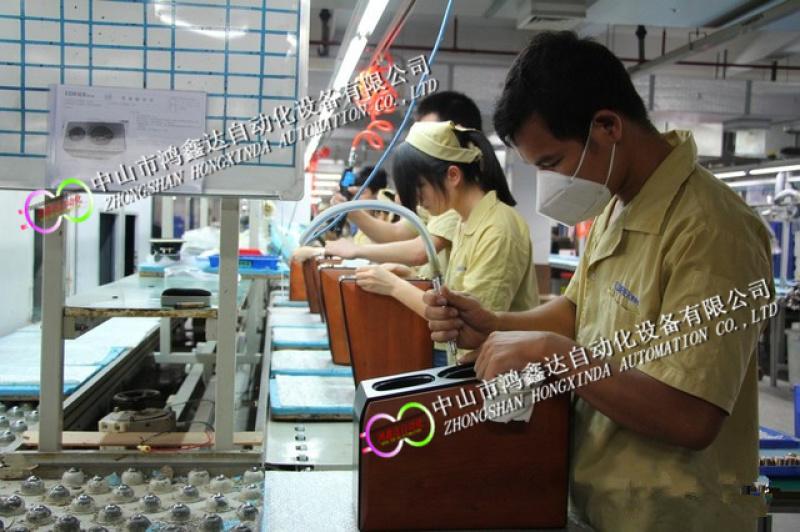 佛山喇叭生产线麦克风环形装配线对讲机流水线老化线